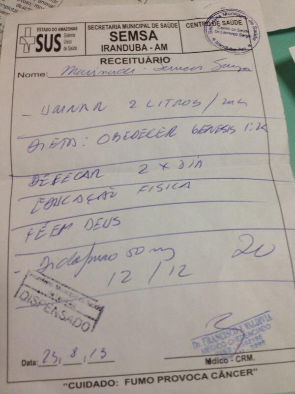 blog olho na mira on twitter m dico cubano receita para o paciente urinar 2 litros e. Black Bedroom Furniture Sets. Home Design Ideas