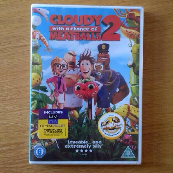 Ends Monday at midday. RT & FOLLOW TO WIN Cloudy with a chance of meatballs 2 on DVD XX http://t.co/bgEnYhaAlq