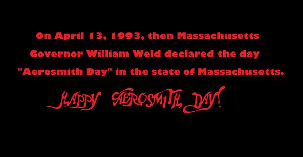 Happy Aerosmith Day. @IamStevenT @THaerosmith @joeykramer @JoePerry #BradWhitford  Busting out the Aerotunes all day. http://t.co/V5XOWg80YL