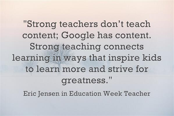 #Truth RT @jgvanides Via @RabeckaKrill: RT @Primary_Ed: Are you a strong teacher? http://t.co/WolX8qT0El