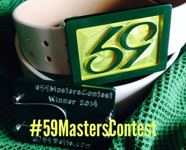 Retweet and for a chance to win this Masters edition 59 Phenom buckle & belt. #59MastersContest #Masters2014 http://t.co/SdnKWZ4yM4