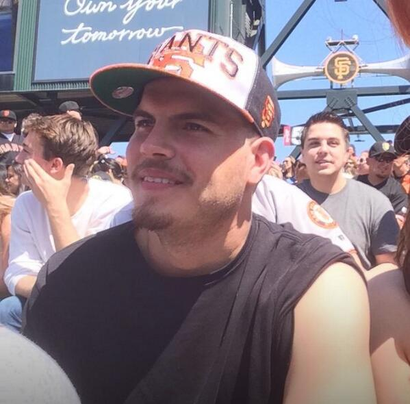 This guy stole my friend's beer at @SFGiants game while she put on sunblock. @SFGiantsFans #ATTPark #sfgiants http://t.co/wNz9cPadXY
