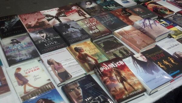 Thanks for making it happen! RT @erniec: A sample #iasl14 #bookswap table. It will be devastated soon. http://t.co/dn0vElPjWc