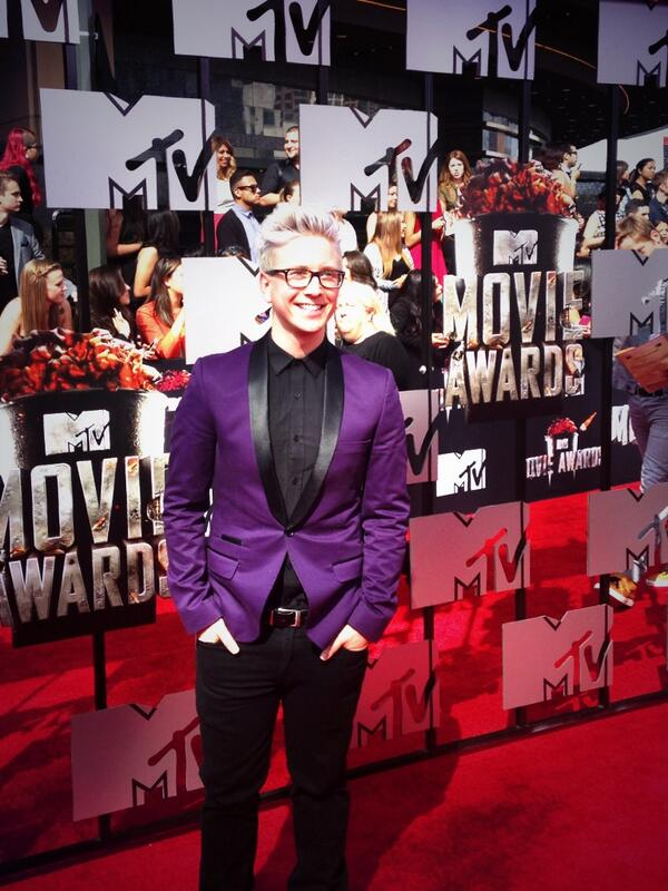 .@tyleroakley arrives @mtv #MovieAwards http://t.co/EbqcLAZR1T