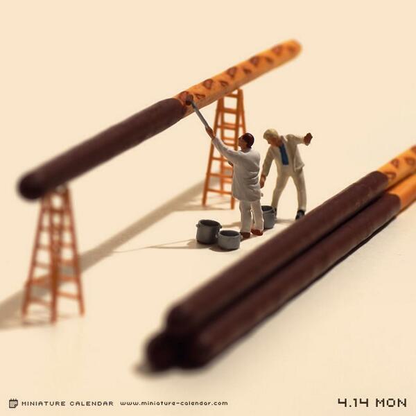 4.14 mon プリッツにチョコレートを塗ってポッキーにする仕事 pic.twitter.com/sJunXvlYTA