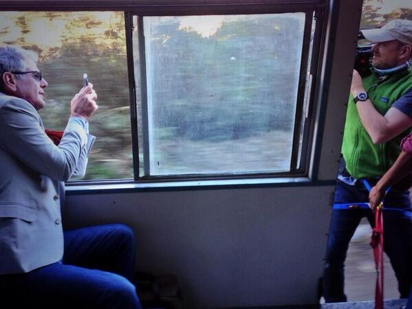 .@Bourdain tweeting a pic of @zachzamboni on the train to Shimla http://t.co/uD6TJdQyvc