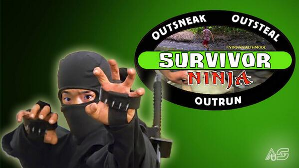 HAHAHAHA @jennwebster RT @SurvivorOz: Woo+Ninja=AWESOME! @YungWoo23 #survivor #survivoroz #ninjastealthmode http://t.co/WRlBm5uylv