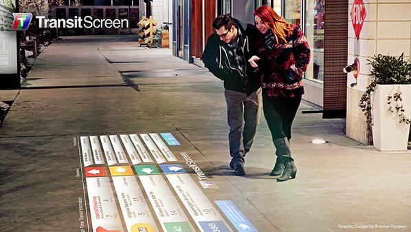 #SmartWalk projects real-time schedules for public transit onto city sidewalks: http://t.co/L0HY6CZYUJ http://t.co/ddAT4SlXWS #Tech