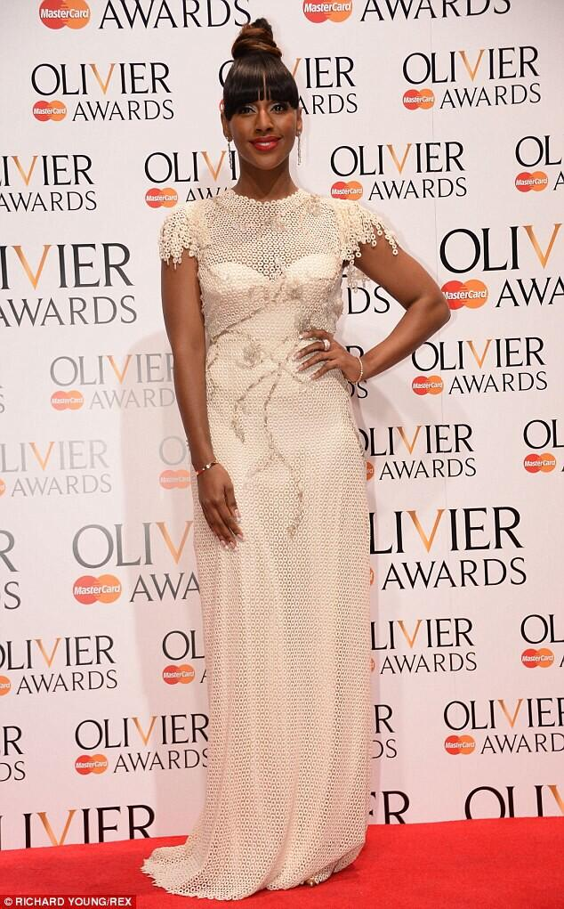 #OlivierAwards Awards.Styled by @styleiconnat -Dress by @QuintanaCouture  Diamonds by @ThelmaWest. TeamAB ❤️💋 http://t.co/upQ1qJBxOx