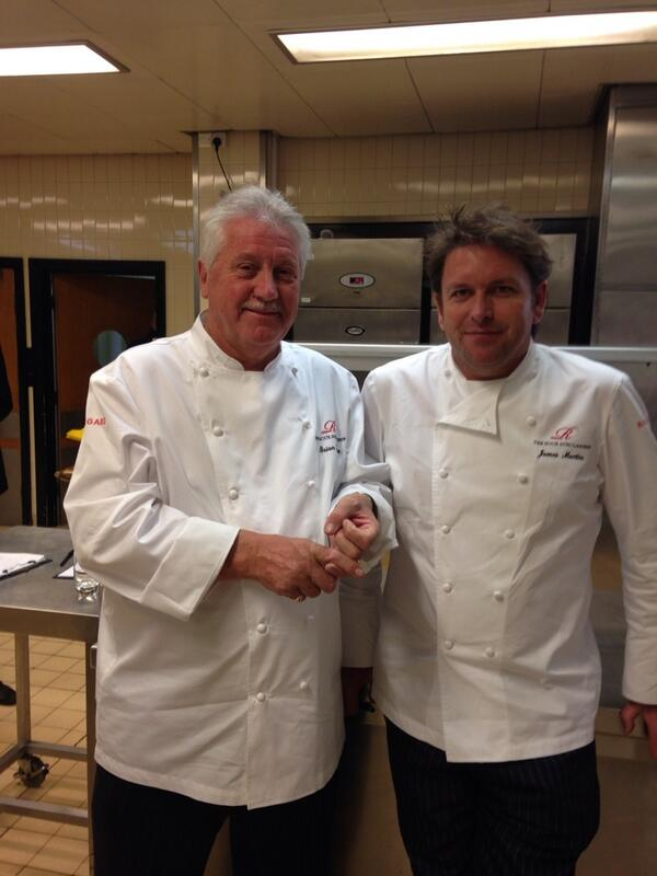 Serious judging at @rouxscholarship from the Yorkshire boys @brianturnerchef @jamesmartinchef http://t.co/8Lk7nsRDgQ