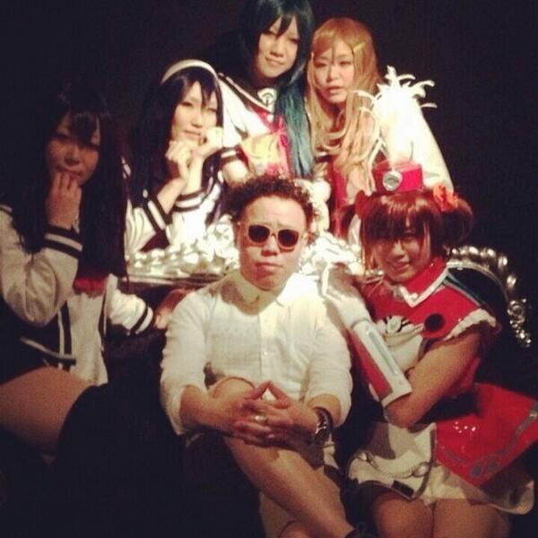 Tokyo underground Drum'n'bass Don, DJ Dancho with Japanese anime girls @trekkietrax #tbtakeover #tokyo @sharxlaye... http://t.co/9ijKV1n1IR