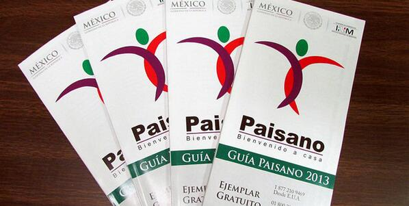 En Operativo #SemanaSanta2014 @programapaisano distribuirá 600 mil ejemplares de #GuíaPaisano en México y EEUU http://t.co/HDEcoEnxyA