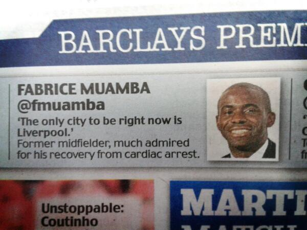 The Daily Mails bizarre and patronizing description of Fabrice Muamba