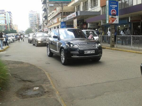 #ProphetOwuor driving around Nairobi in a 2014 20M RangeRoverVogue and an 8M VX chase car. This guy is truly humble. http://t.co/i5fHKJJGYf