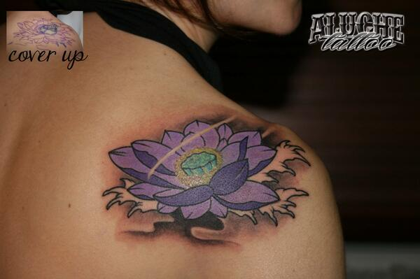 Aluche Tattoo On Twitter Tattoo Cover Up Flor De Loto Tattoo