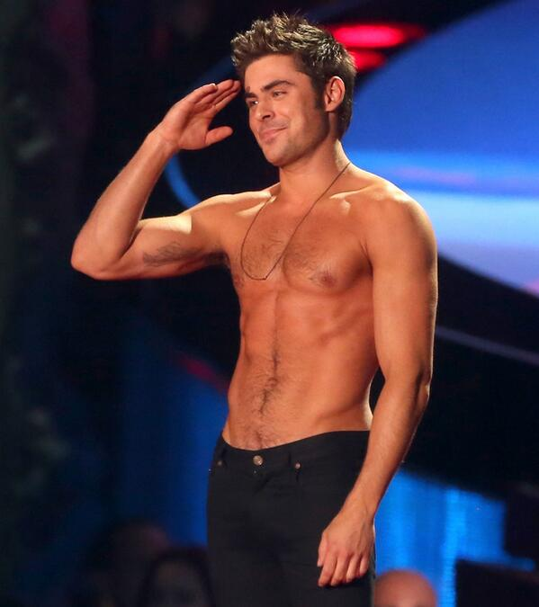 @ZacEfron how about ripping the next shirt off on the @Chippendales stage? Ladies, how about Zac for our next guest? http://t.co/SfWftEFUcC