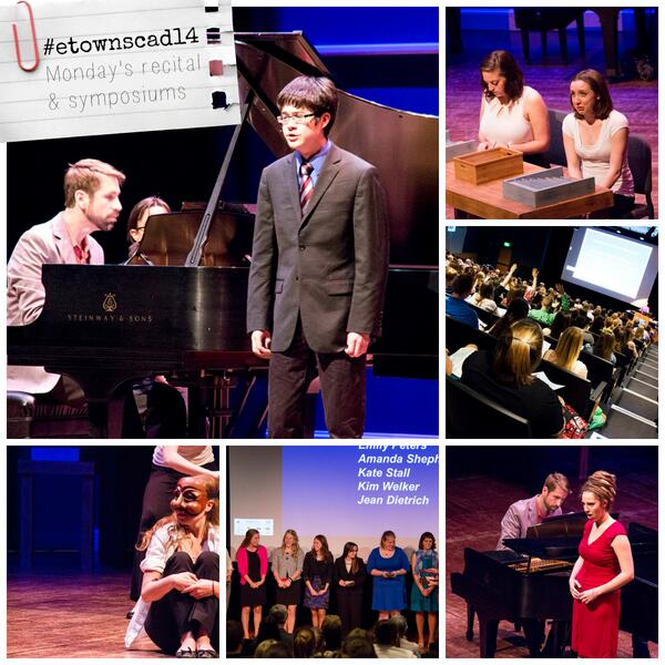 Images from tonight's presentations and performances: #etownscad14 http://t.co/ZX0fTInfCY
