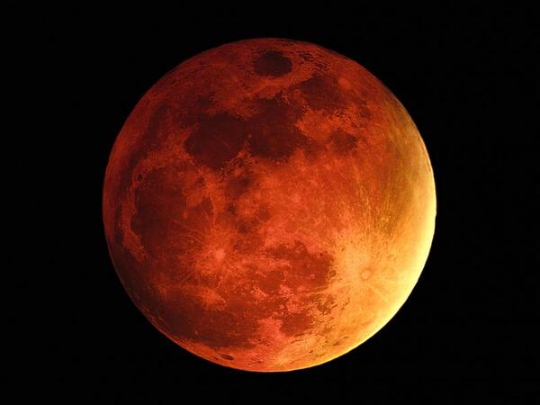 "Set your alarm or stay up late for the #LunarEclipse! It will become a ""blood moon"" at 2:07 a.m. CDT. http://t.co/aHp52E2YJt"