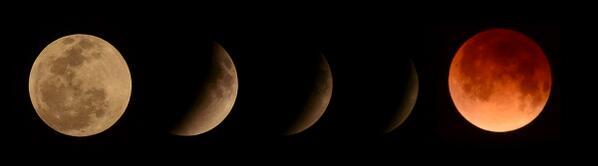 Eclissi totale Luna Piena (Luna Rossa)