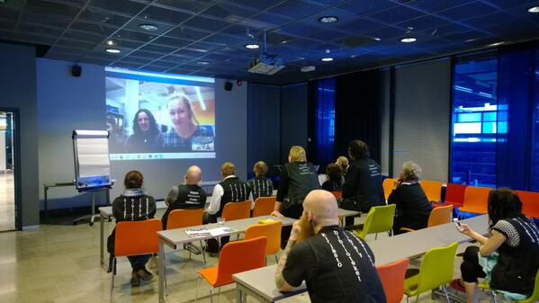 Skype connection Espoo-San Sebastian, photo - David Muñoz