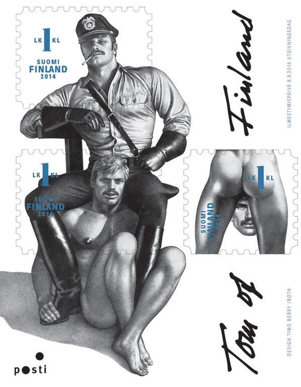 The Finnish post office is celebrating iconic gay artist Tom of Finland with some saucy stamps http://t.co/DDo96heZkQ http://t.co/HnXDfQcl4E