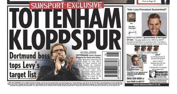 Daniel Levy makes Jurgen Klopp his Number 1 target to take over at Tottenham [Sun Sport]
