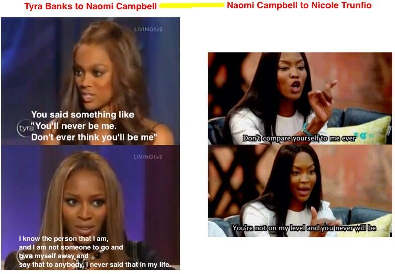RT @meistumz: @tyrabanks this proved everything u said about @NaomiCampbell is so TRUE. Nuff said. @nictrunfio  #thefaceau http://t.co/eGnG…
