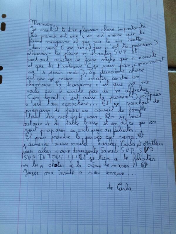 ecrire une lettre sa mre - Relations parents-enfants