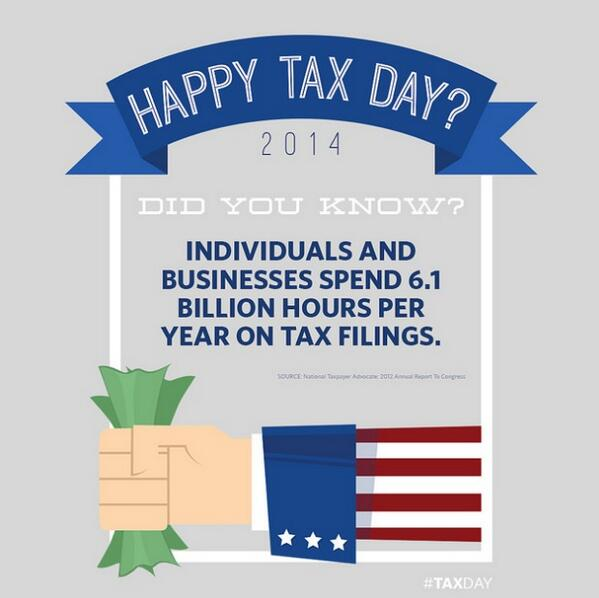 Today is #TaxDay. This graphic is just one of the many reasons we need a fairer, simpler tax code. http://t.co/nKaOXd6oLx
