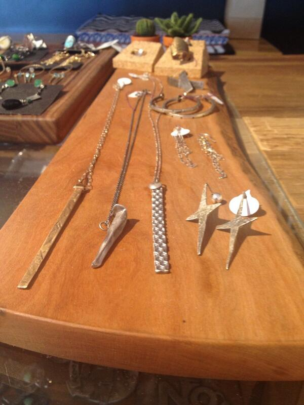 Jewelry by #boulder artist Amy Johnson at Madelife. Chunky, organic, industrial. #fashion http://t.co/9lf5KhSlX7