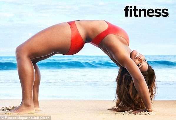 "Serena ""The Body"" Williams on Cover of Fitness Magazine"