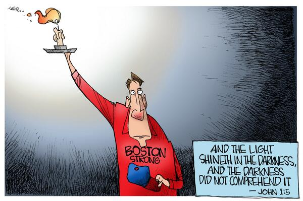 Holbert editorial cartoon in @bostonherald April 15, 2014 #26toBoston #BostonStrong http://t.co/4ESqvV3Qn3