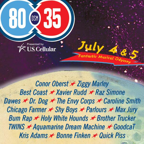 80/35 2014. Lineup Liftoff. More stars to come, including the Superstar Saturday headliner! http://t.co/Up34OA4yjm