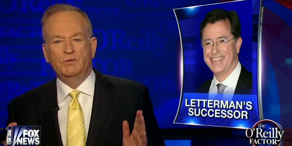 Papa Bear lashes out: Bill O'Reilly says conservatives won't watch real Colbert http://t.co/VWkJCxHRIi http://t.co/Im1QitZpXq