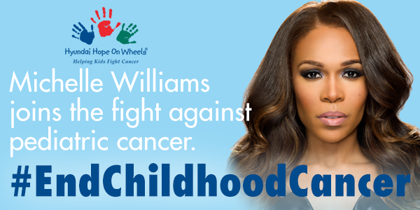RT @hopeonwheels: Honored to have @RealMichelleW join #HopeOnWheels in the fight against pediatric cancer. #EndChildhoodCancer http://t.co/…