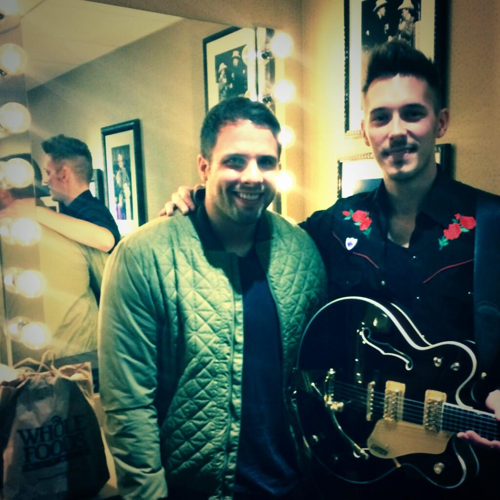 Backstage at the Grand Ole Opry with Nashville's @SamPalladio after a brilliant set. http://t.co/ucxPlDMO0J