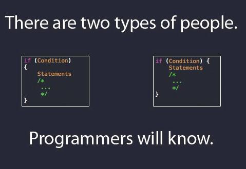 Hay dos tipos de personas... y los programadores lo sabemos! =D http://t.co/l7Bu7bdRII