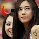Image for the Tweet beginning: 韓国  韓国は整形美人ばかりだろう。 不細工よりはマシだけどな。 あとは サッカーの試合で竹島は韓国のものだって 旗立ててアホ丸出しだなwww ( ゚Д゚)ヴォケ!! 竹島は日本の領土だカス