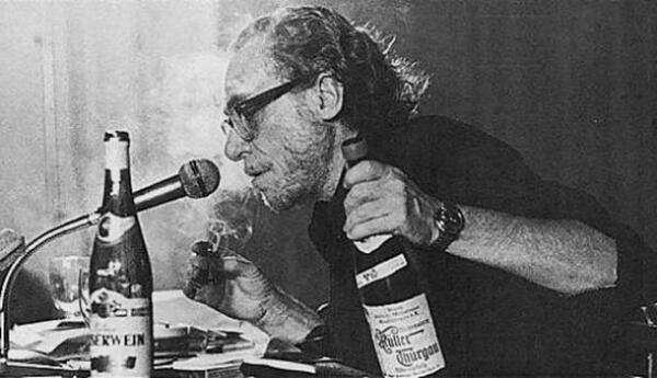 Image result for bukowski smoking