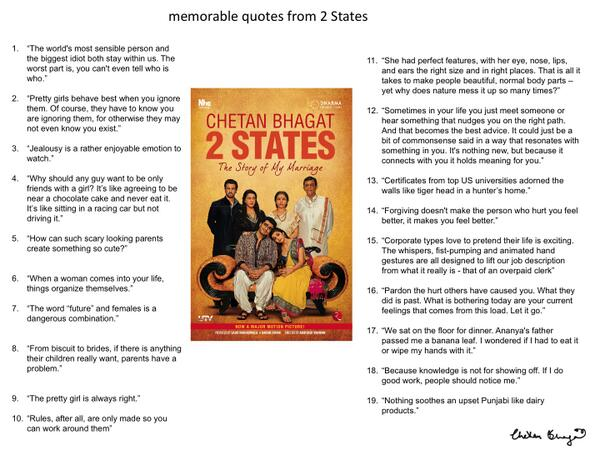 Chetan Bhagat On Twitter 2 States All The Memorable Quotes From