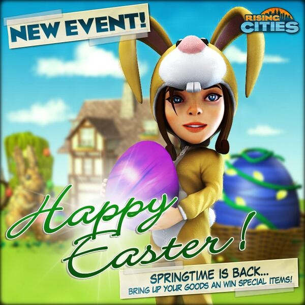 The Easter Event has started and you can win some very beautiful rewards. Check out the citysquare now. Happy Easter! http://t.co/TYX5auFprB