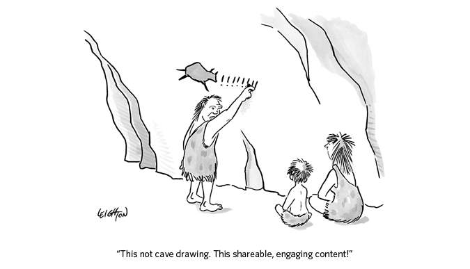 #Contentmarketing in the prehistory or just drawings? Thx @HenkRijks http://t.co/3ovbppNnxH