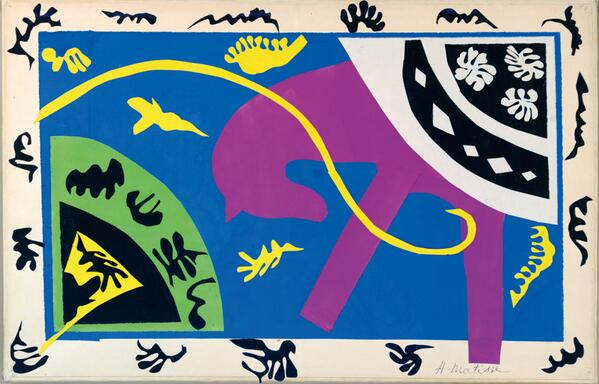 Matisse worshiped colour. You can see in The Horse, The Rider and The Clown '43 the colours zing. #TateTour http://t.co/GHImHsTa7B