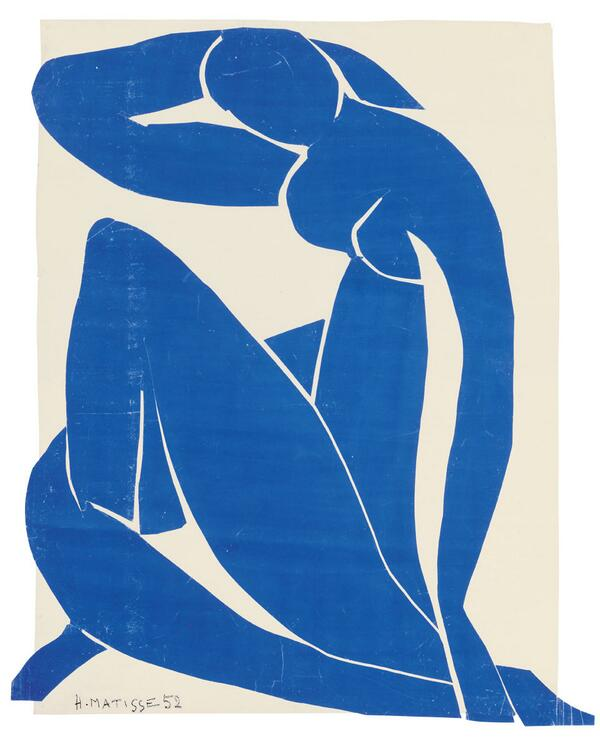 As you can see in Blue Nude II, scissors both create the outline of the figure and carve contours into it. #TateTour http://t.co/GmpgTHCsN6