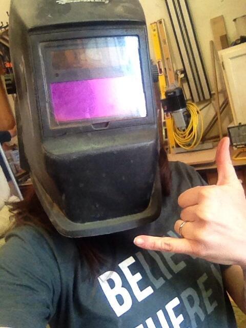 Serious welder selfie. #sparksisflyin #boulder #partylikeajournalist http://t.co/yDbKLNQScD