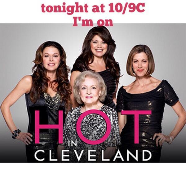I'll be on @hotnclevelandtv tonight 10/9c on @tvland #HotInCleveland #FUN http://t.co/PVpsnwTTPA