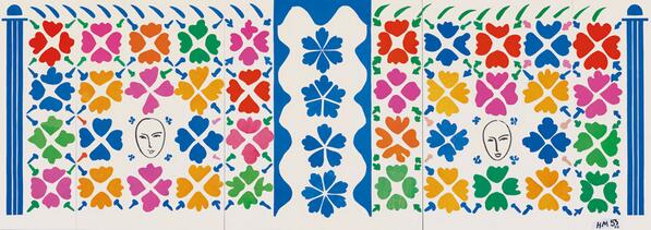 Matisse was inspired by Moorish mosaics as in Large Decoration with Masks '53. #TateTour http://t.co/Rlrm4gHkii