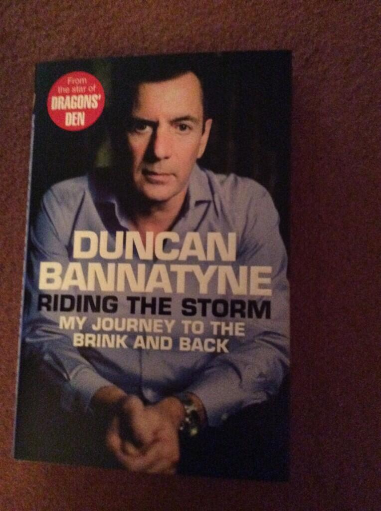 RT @ThorleyJohn: @DuncanBannatyne received today and it's signed. Can't wait to read. Thanks Duncan you're an inspiration http://t.co/JjxQP…