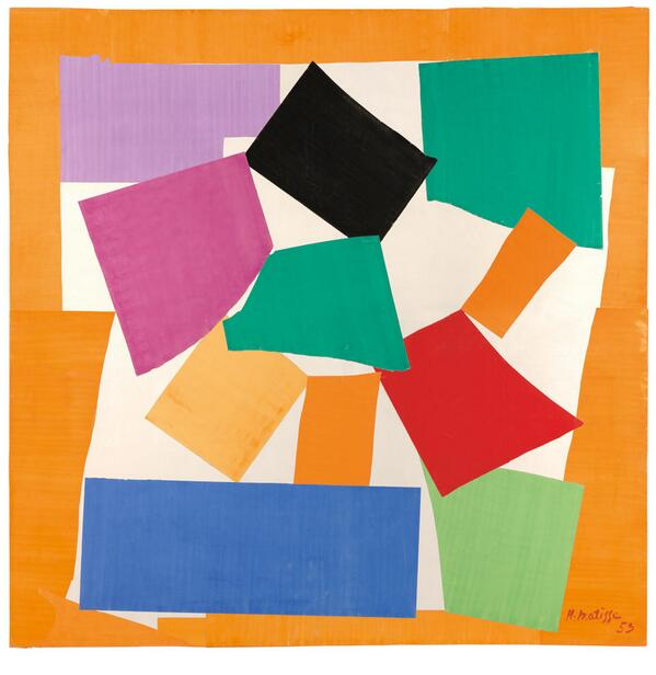 In The Snail '53, the rotating paper shapes radiate out in a spiral, echoing a snail's shell. #TateTour http://t.co/TdhkFrw9DN