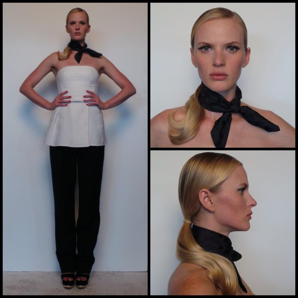 Last week's #TheFace Ep 6 look: @CoSTUMENATIONAL top & pants, @MIUMIUofficial neck tie & shoes #TeamAnneV #AnneVStyle http://t.co/VCEMw7skUH